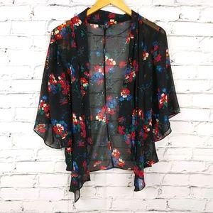 Topshop Floral Kimono Cover up